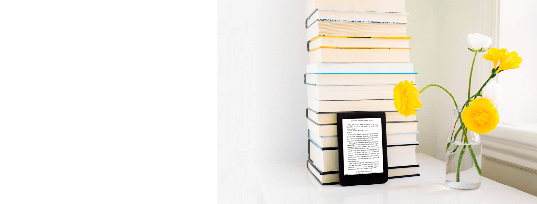Carry up to 6,000 eBooks anywhere you go