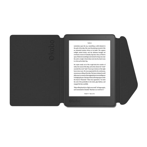 Kobo Aura Edition 2 with black SleepCover