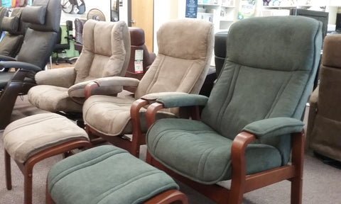 More than just  LEATHER---  Recliners from Norway ( FABRIC )