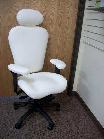 Lifeform Office Chair with LIFE-Foam™ Memory Foam and adjustable Schukra® lumbar support in the back.  ( INTENSIVE SITTING OFFICE CHAIRS )--PERFECT FOR INJURED OFFICE WORKERS