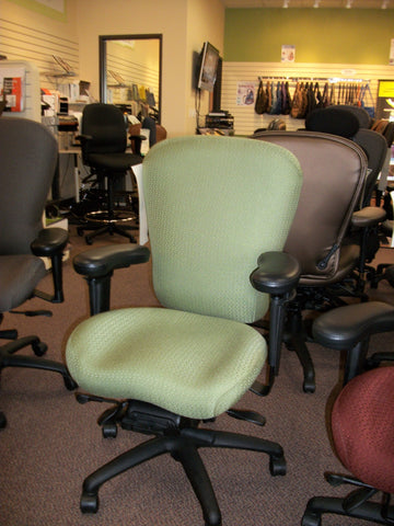 Lifeform Office Chair in wasabi green ( INTENSIVE SITTING OFFICE CHAIRS )--IF YOU ARE AN INJURED OFFICE WORKER, JUST COME IN SEE FOR YOURSELF, THIS AFTERNOON!