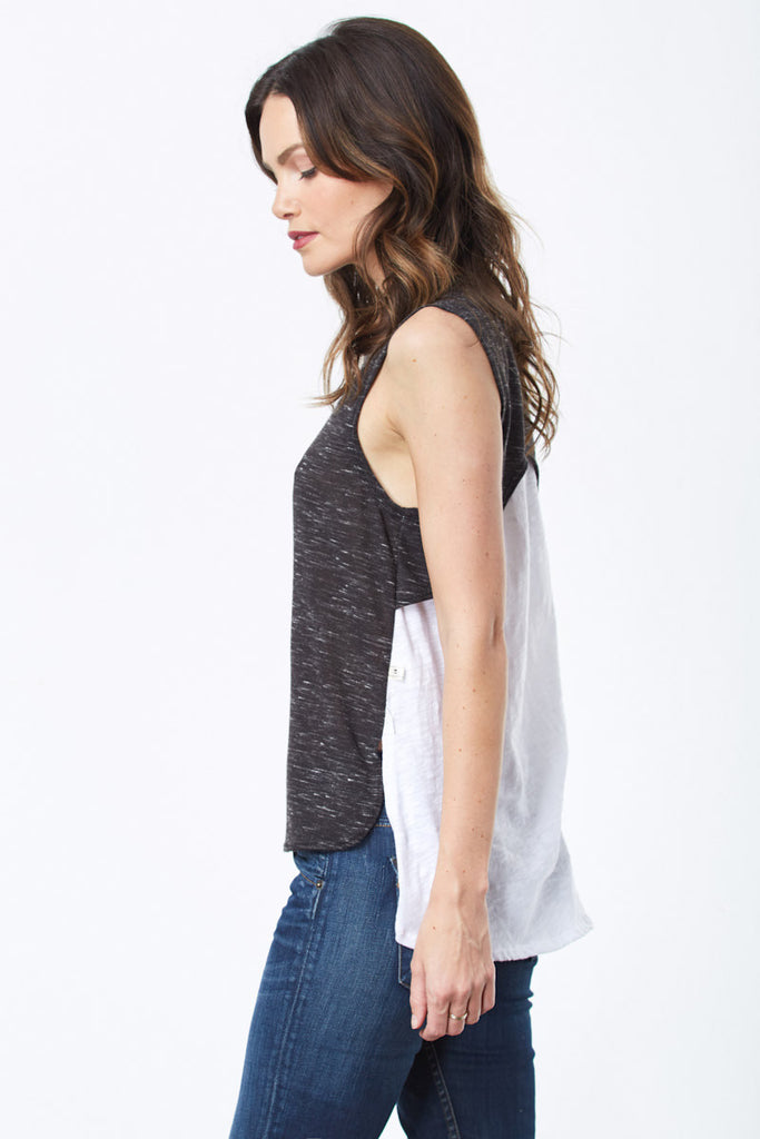 Travel Tops for Women: Nytt_Grey Summer Tank Top for Women
