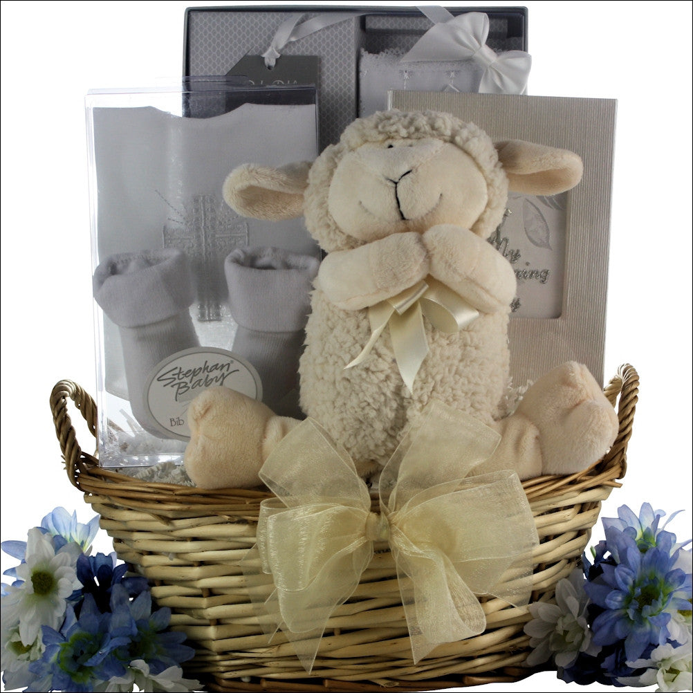 Bless This Baby Boy: Baby Christening Gift Basket
