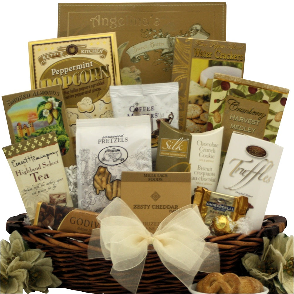 Classic Holiday Elegance: Gourmet Holiday Christmas Gift Basket