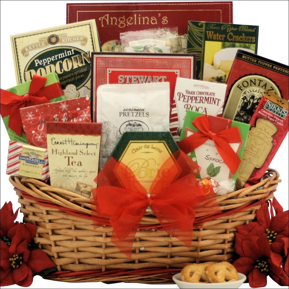 Tidings of Joy: Large Gourmet Holiday Christmas Gift Basket | eGift ...