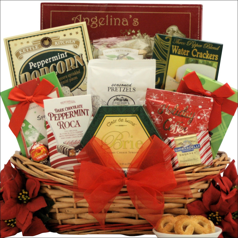 Tidings of Joy: Medium Gourmet Holiday Christmas Gift Basket