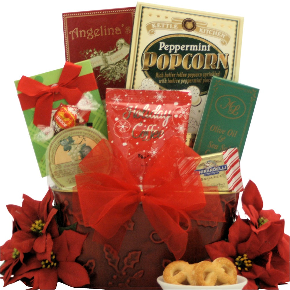 Tidings of Joy: Small Gourmet Holiday Christmas Gift Basket