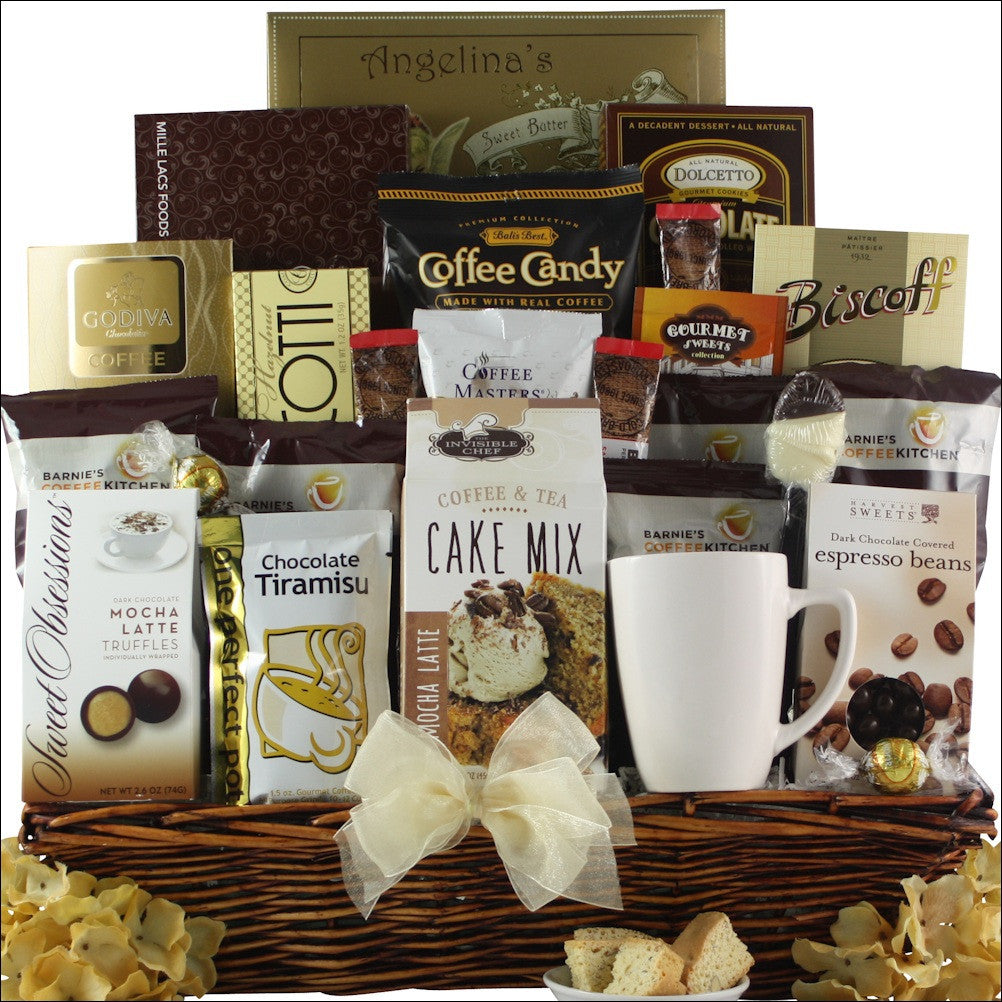 Coffee Lovers Dream: Gourmet Coffee Gift Basket