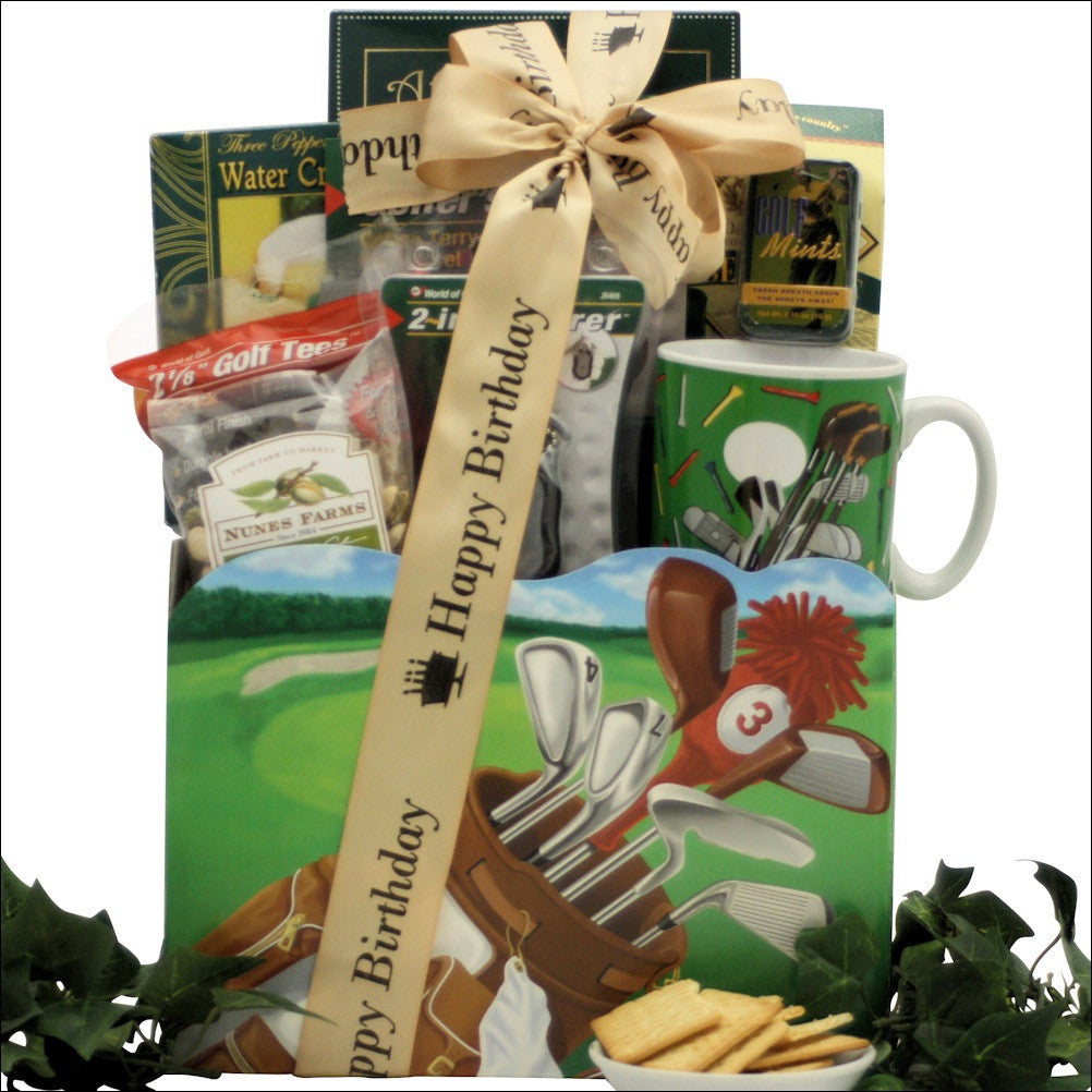 Golfing Around: Birthday Golf Gift Basket