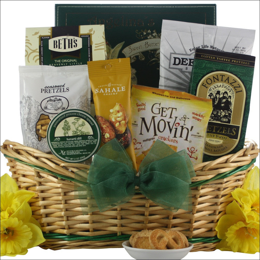 Get Movin': Get Well and Snacks Gift Basket