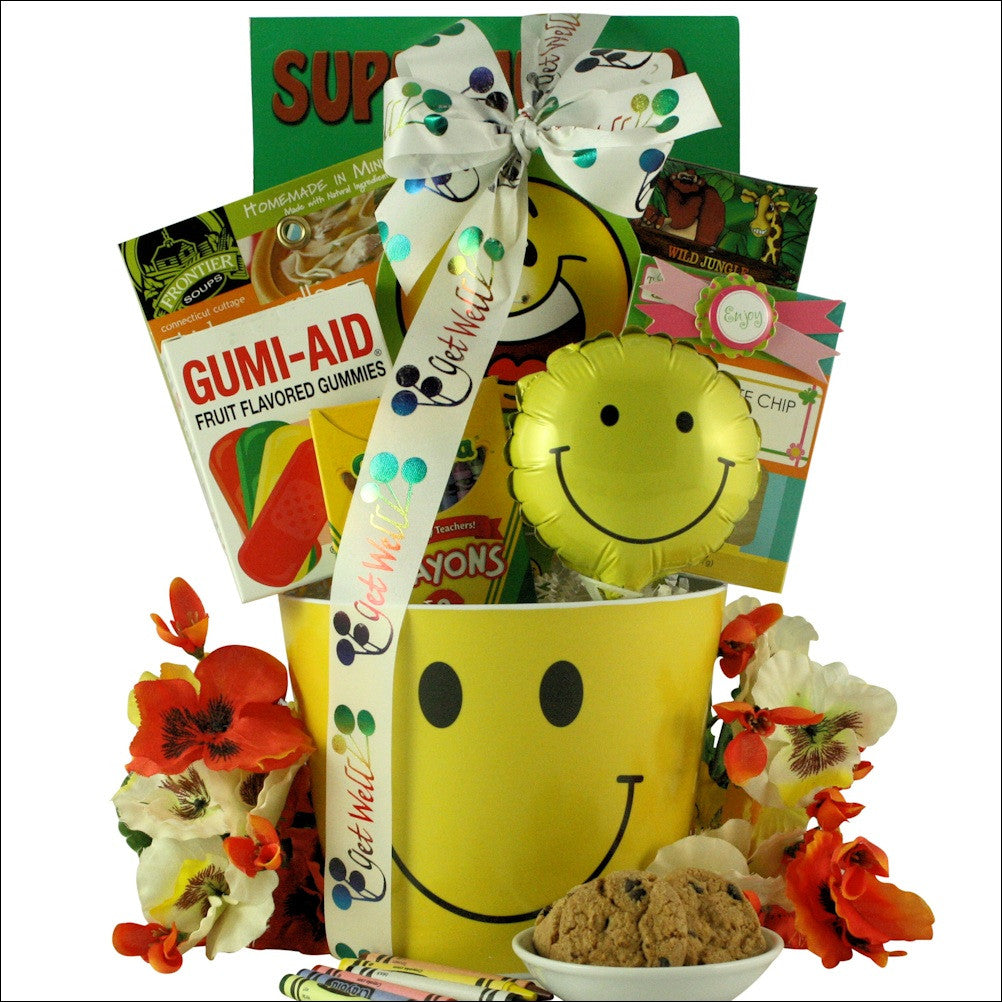 Get Well Smiles: Kid's Get Well Gift Basket Ages 3 to 5