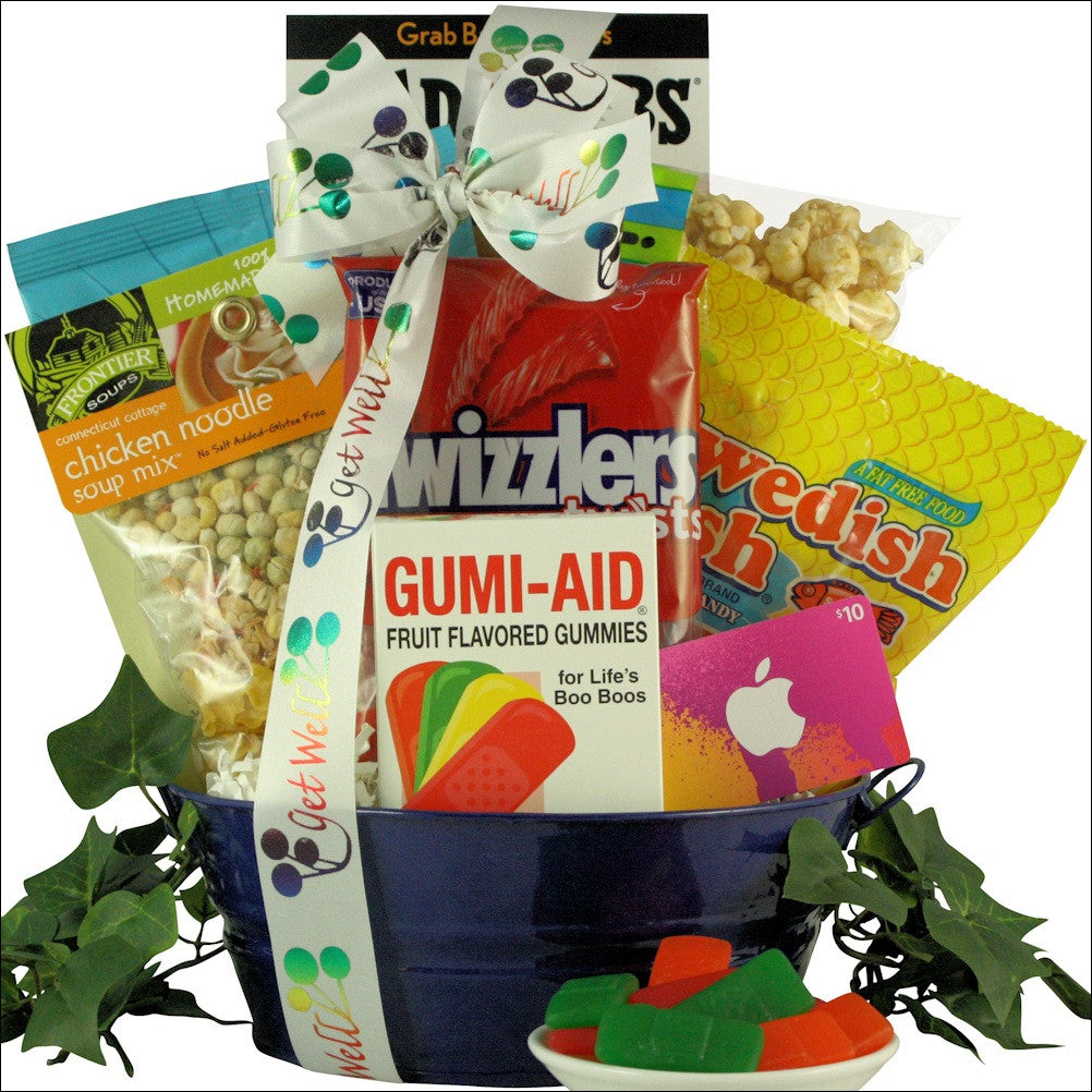 iTunes Therapy: Boy's Get Well Gift Basket Ages 9 to 12