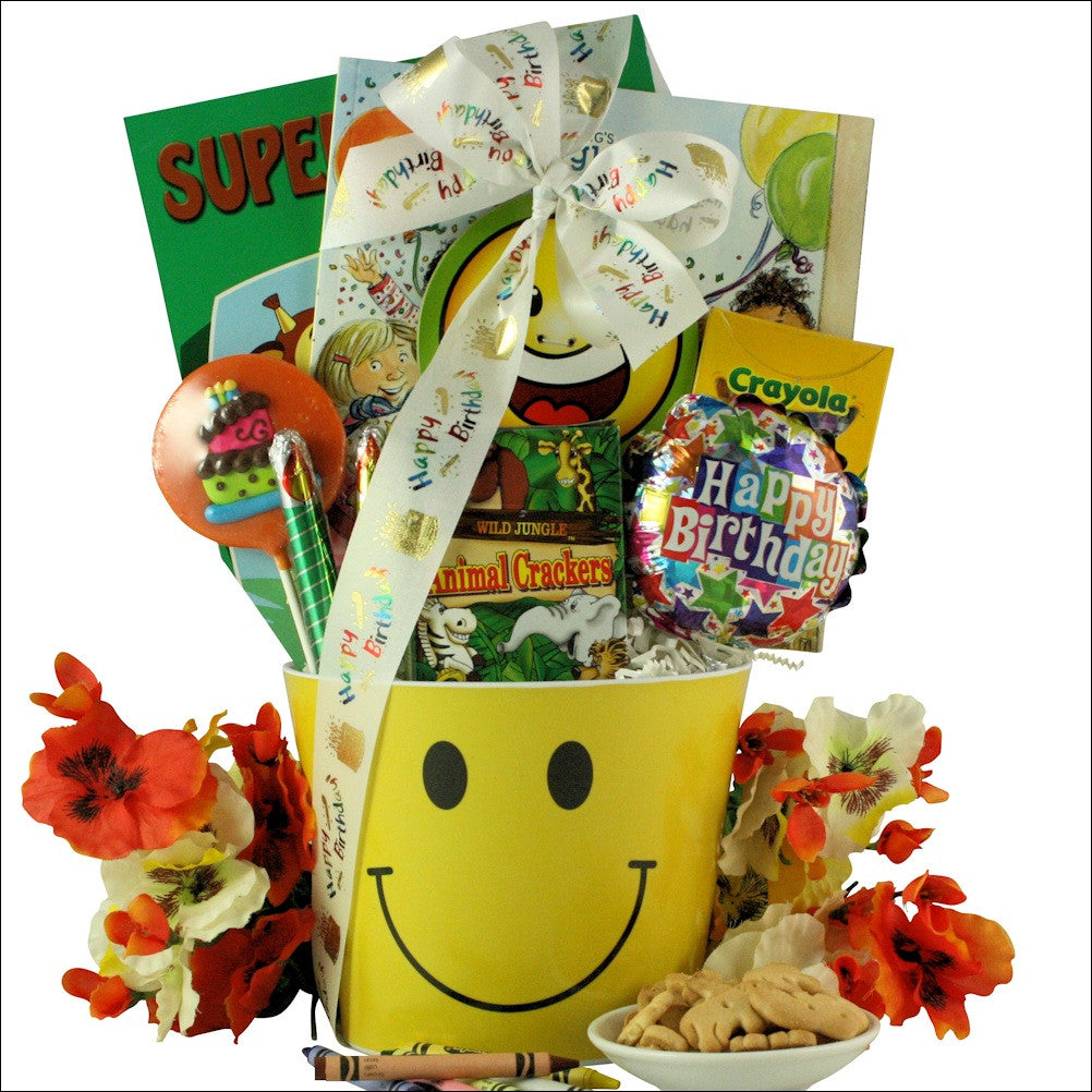 Happy Birthday Smiles: Kid's Birthday Gift Basket Ages 3 to 5