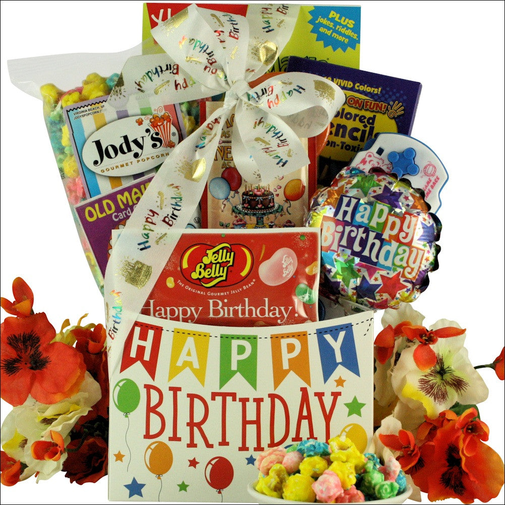 Happy Birthday Wishes Kids Gift Basket Ages 6 To 8