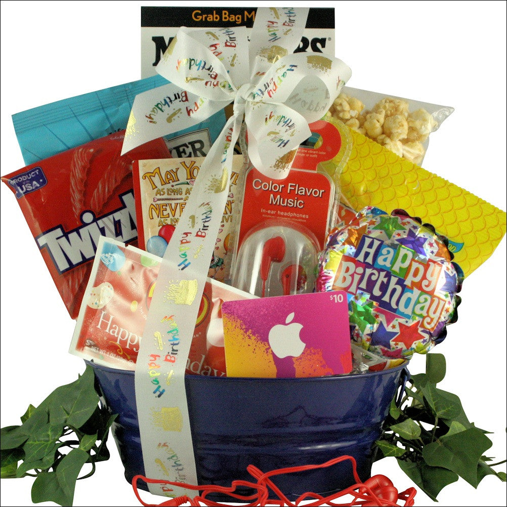 Birthday Tunes: Kid's Birthday Gift Basket for Boys - Ages 9 to 12