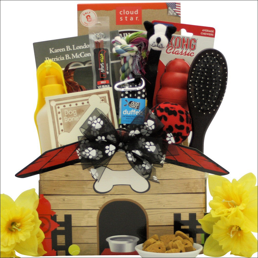 Congrats on Your New Pooch!: Pet Dog Gift Basket.
