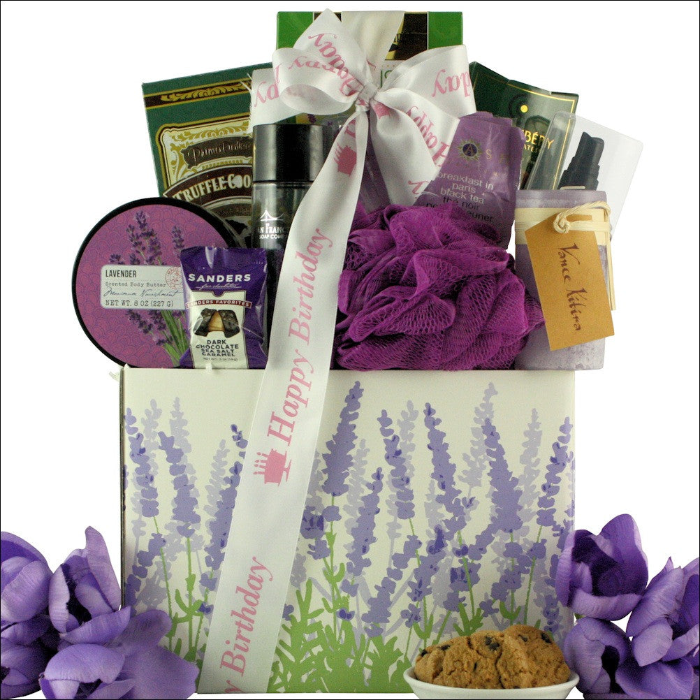Lavender Spa Pleasures: Bath & Body Birthday  Gift Basket