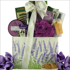 Lavender Spa Pleasures: Bath & Body Thank You Gift Basket