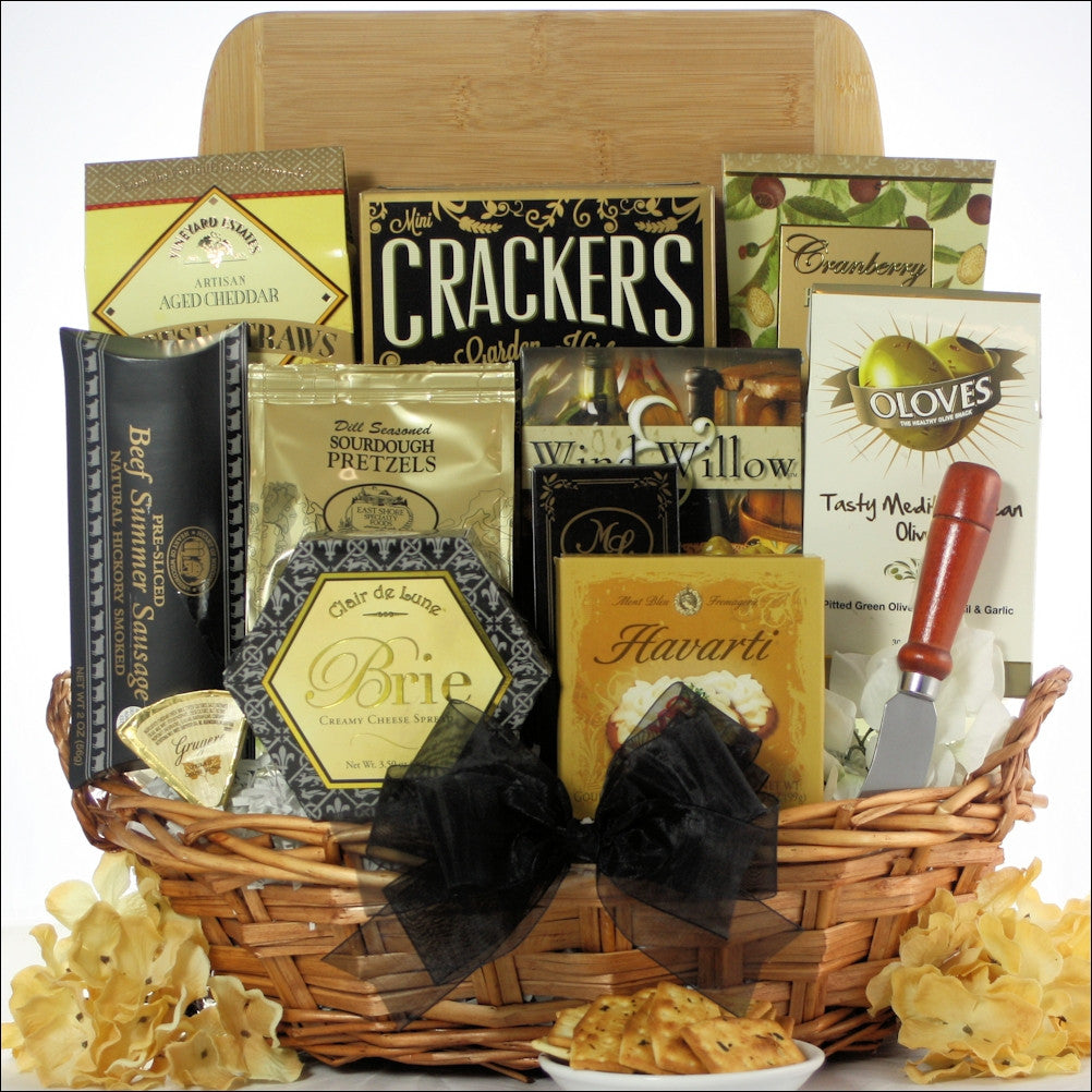 Modern Tastings: Cheese & Snack Gift Basket