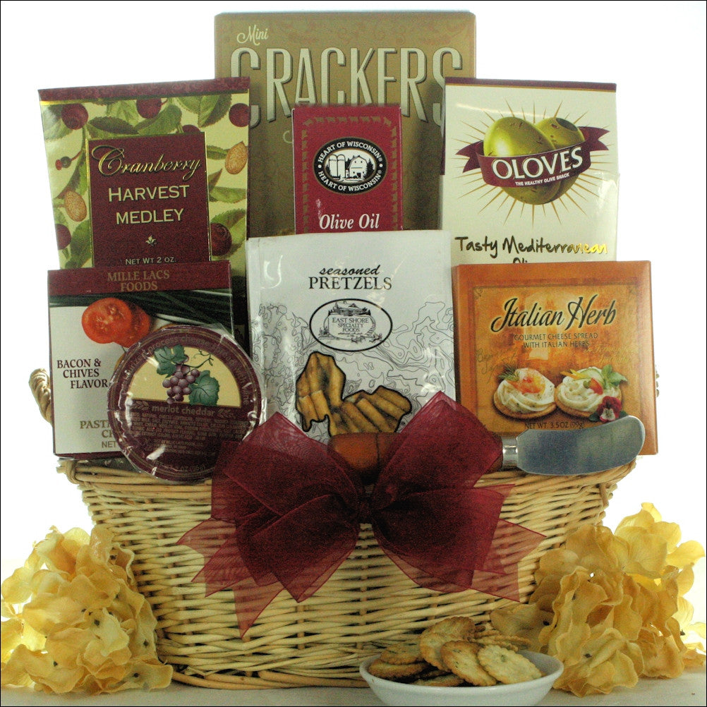 Taste of Tuscany: Cheese & Snack Gift Basket