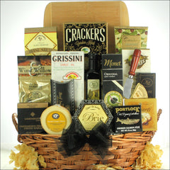 Grand Impressions: Cheese & Snack Gift Basket