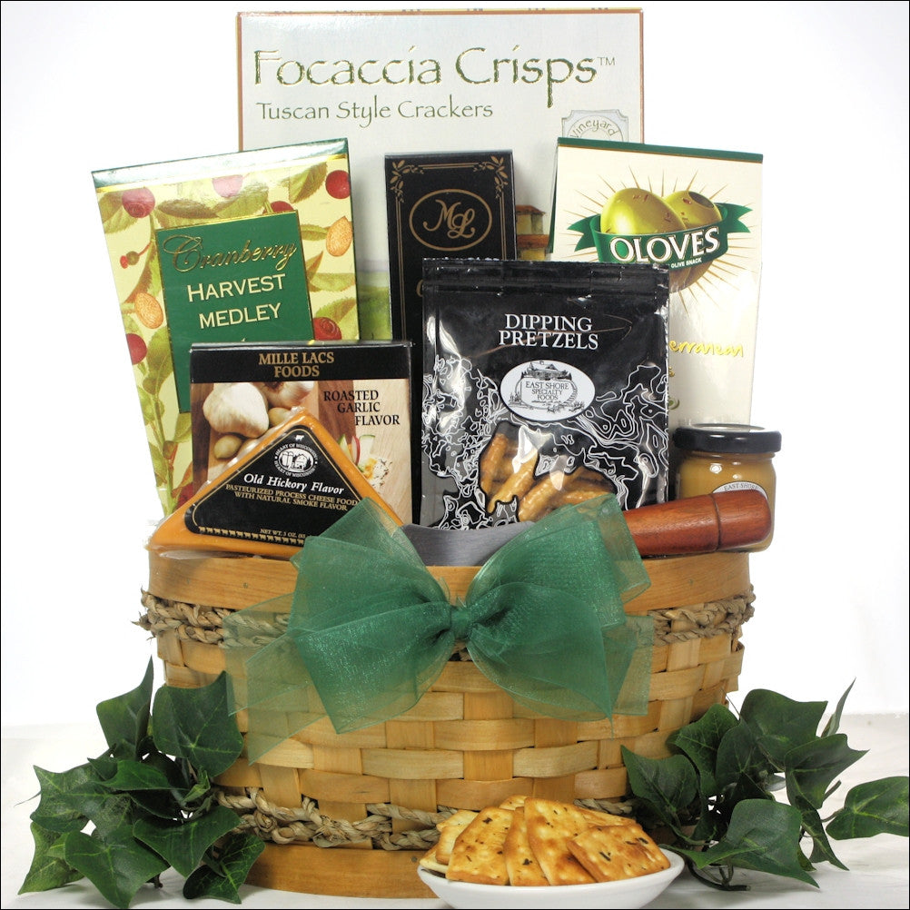 Savory Cheese & Snack Sampler Gift Basket