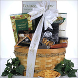Savory Cheese & Snack Sampler: Thank You Gift Basket