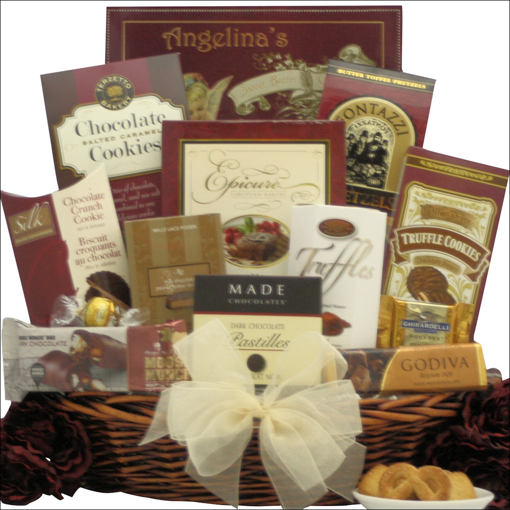 Peace & Prosperity: Medium Chocolate Holiday Christmas Gift Basket