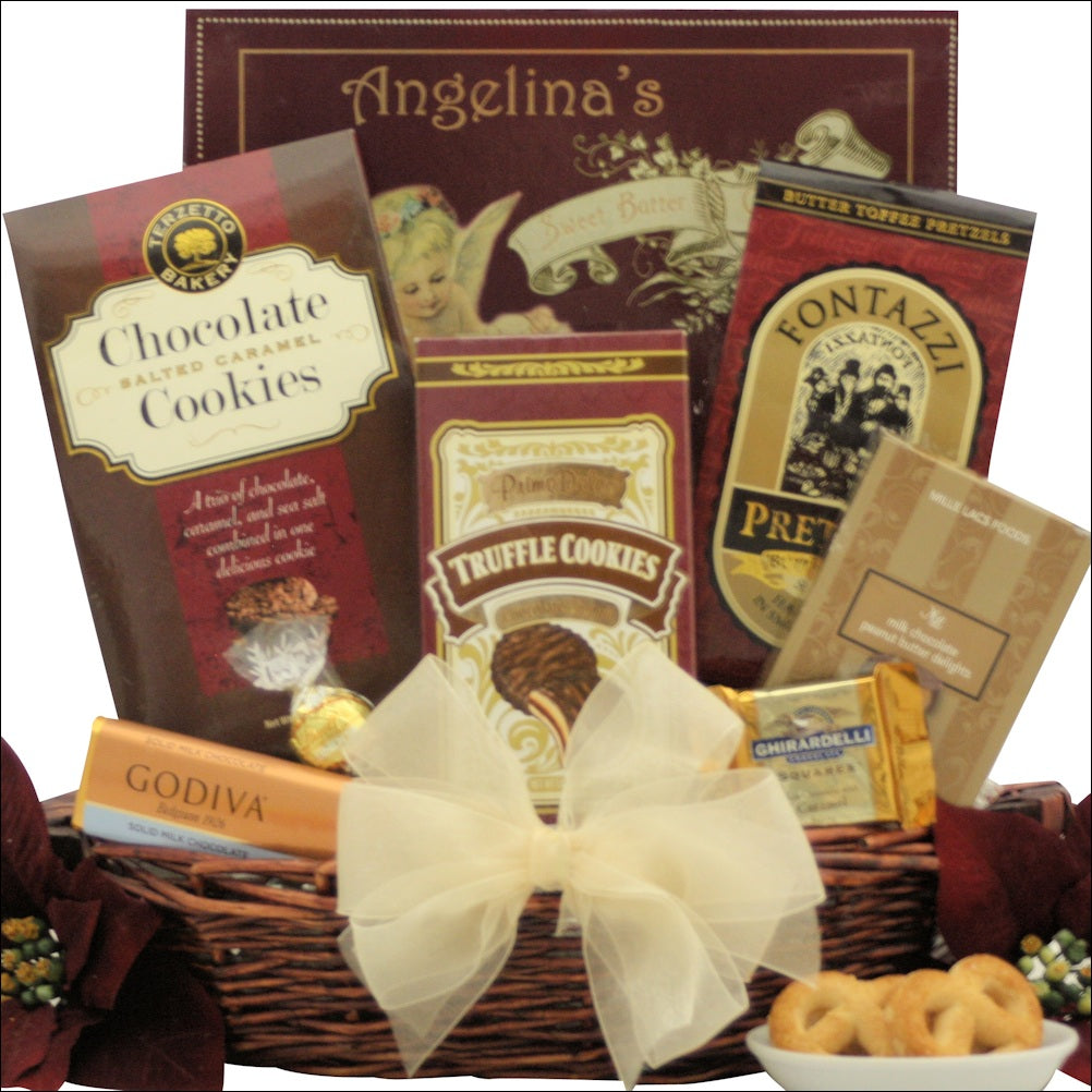 Peace & Prosperity: Small Chocolate Holiday Christmas Gift Basket