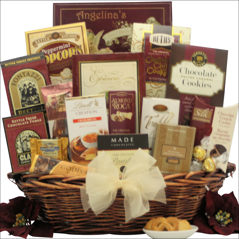 Peace & Prosperity: Large Chocolate Holiday Christmas Gift Basket