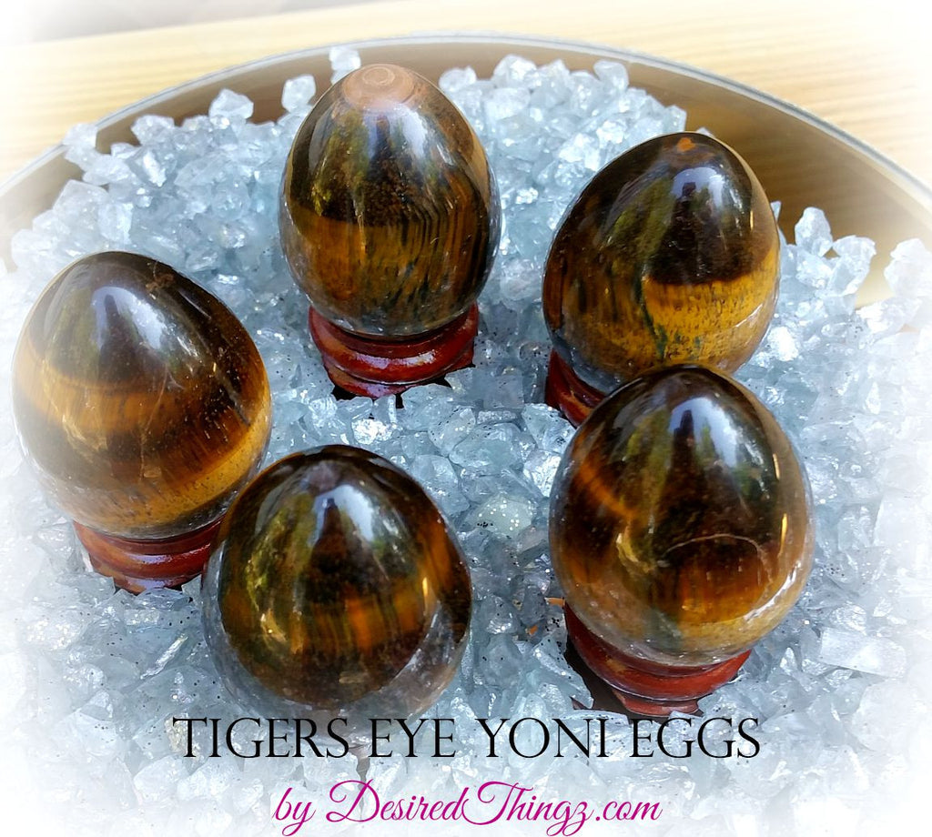Tigers Eye Yoni Eggs