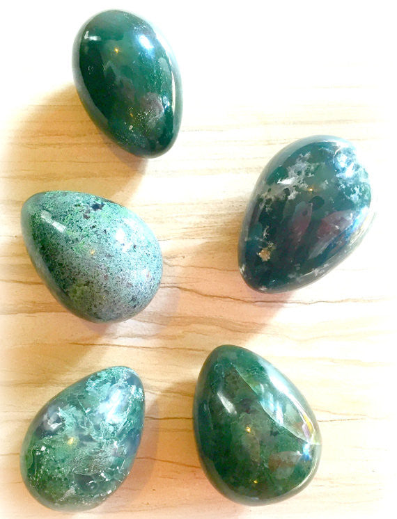 'Sacred Support' - Moss Agate Yoni Eggs - Namaste's Pick!