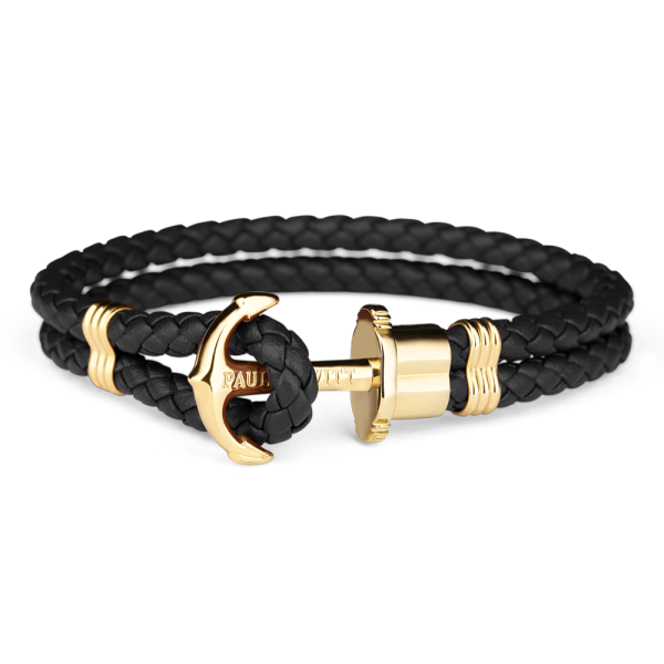 Bracelet Paul Hewitt PHREP Black and Gold