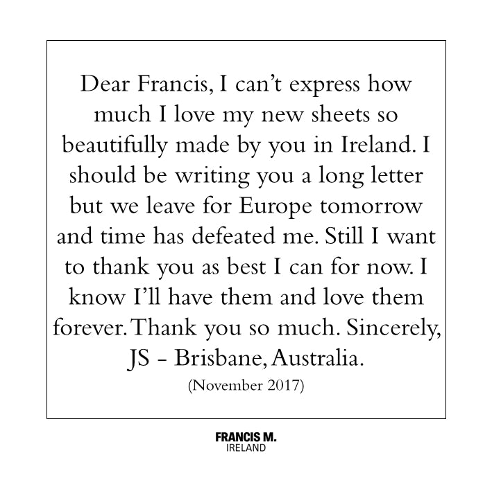 francis-m-luxury-bedding-irish-linen-thank-you-note-from-client