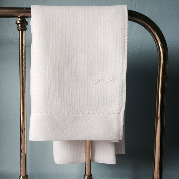 Francis M Irish Linen Huckaback Towels - FRANCIS M. Irish Linen