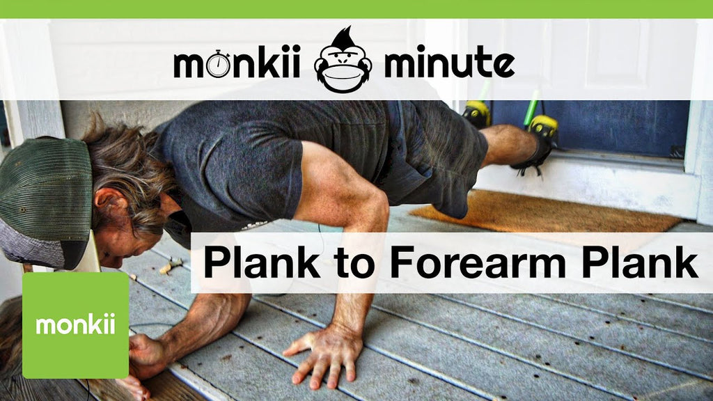 monkii minute: Plank to Forearm Plank