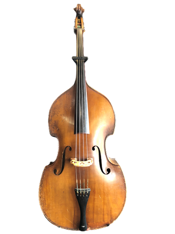 1940s-50s Czechoslovakian - John Juzek - Upright Bass 3/4 w/ Bag + Bow