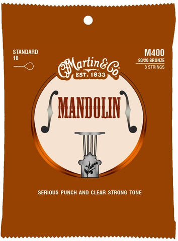 Martin 80/20 Bronze Mandolin Strings 10's (M400)