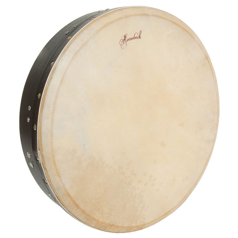 ROOSEBECK TUNABLE MULBERRY BODHRAN T-BAR 16-BY-3.5-INCH - BLACK