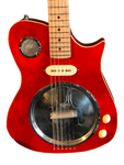 "Crude Luthier - Red Pot Lid Resonator - ""Airspeed"" Electric Guitar"