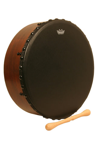 REMO IRISH BODHRAN WITH ACOUSTICON SHELL AND BAHIA BASS HEAD, 16-BY-4.5-INCH