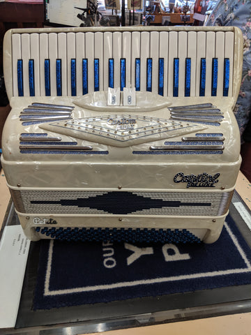 "Capital Deluxe - ""Blue Sparkle"" - Custom Built Petite Accordion"