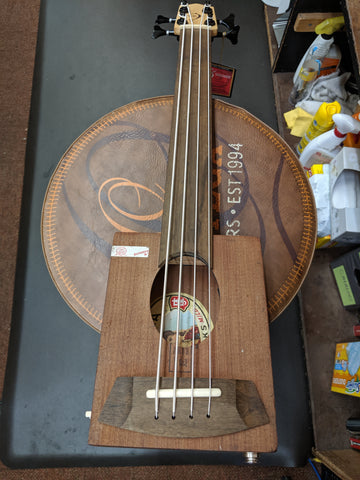 Cigar Box Bass Ukulele - Larks Body