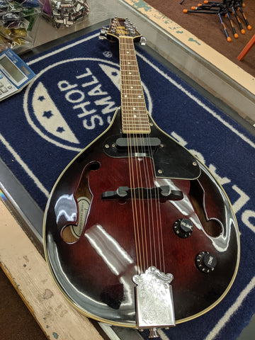 Johnson - A-Style Mandolin with Electronics w/ Bag