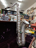 Carl Fisher NY - Silver Tenor Sax - 1950s