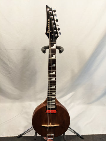 Bruce Halbohm - Zebrawood/Redwood Travel Size Guitar