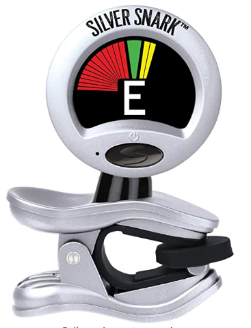 Snark - SIL1 - Clip-On Tuner for Guitar, Bass & Violin and more (New Tuning Software, Reinforced joints, Longer battery life)