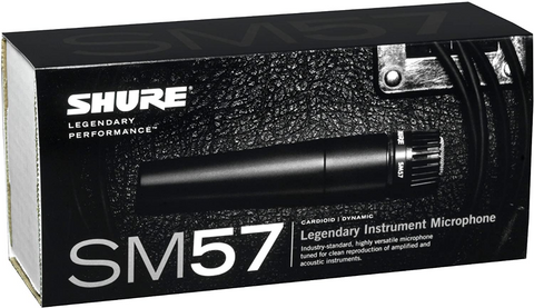 Shure SM57-LC Cardioid Dynamic Microphone - Black