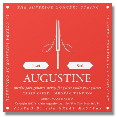 Augustine - Classical Acoustic Guitar Strings - Red - Medium Tension