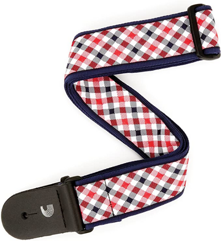 D'addario - 2.0MM - Gingham Red/Navy